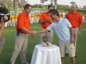 2006 Agadir, Marokko, endelig vandt Søby. Henrik, Henrik, Søby, Vicente. (Søby i højest ureglementeret påklædning, men helt ok efter den sædvanlige søgang!)