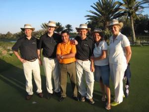 2007 Agadir, Marokko, Henrik, Vicente, Mohammed, Jes, Randi og Mette